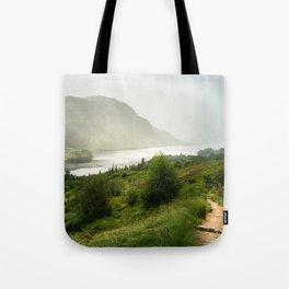 Scottish Highlands Landscape Panorama Tote Bag