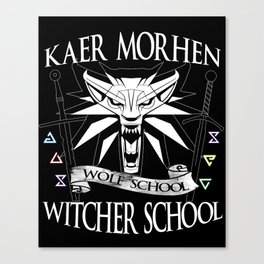 Kaer Morhen Witcher School Canvas Print