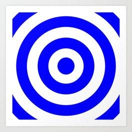 Target (Blue & White Pattern) Art Print