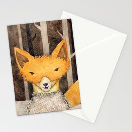 Fox in the woods Stationery Cards