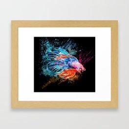 Fighter Fish Framed Art Print