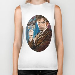 The Tenth Doctor and His TARDIS Biker Tank