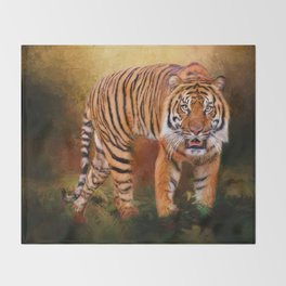 Sumatran Tiger Throw Blanket