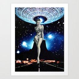 pin ups from Mars (close encounters) Art Print