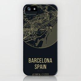 Barcelona Spain Map iPhone Case