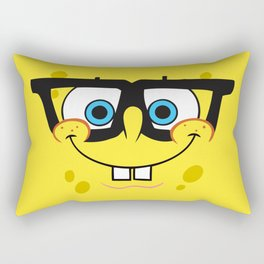 Spongebob Nerd Face Rectangular Pillow
