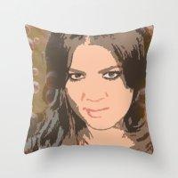 kardashian Throw Pillows featuring Khloe Kardashian by D Arnold Designs