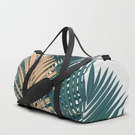 Gold and Green Palm Leaves Duffle Bag