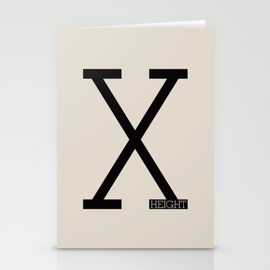 X-Height Stationery Cards