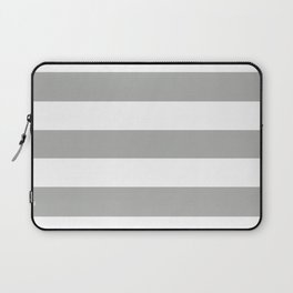Silver foil - solid color - white stripes pattern Laptop Sleeve