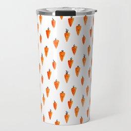 Orange happiness. Carrots pattern Travel Mug