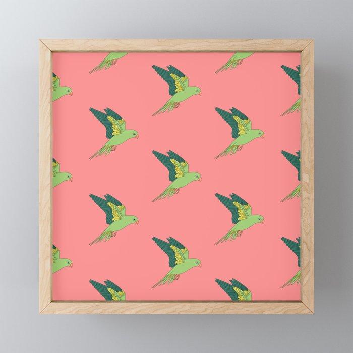 FLYING PARROTS Framed Mini Art Print