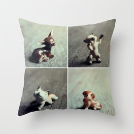 Tiny Menagerie Throw Pillow