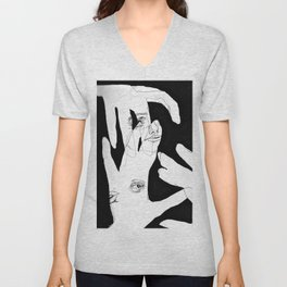 """ HAND OUTLINE"" Unisex V-Neck"