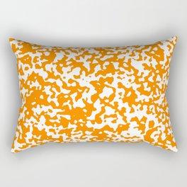 Small Spots - White and Orange Rectangular Pillow