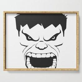 Hulk Black & White Trendy Art Serving Tray