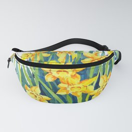 Cut Daffodils Watercolor Painting Fanny Pack
