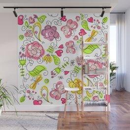 Watercolor Garden Wall Mural