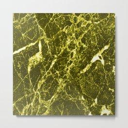 Yellow Marble Metal Print