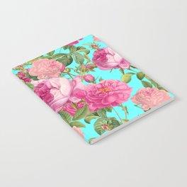 Vintage & Shabby Chic - Summery Rose Flowers Garden Pattern Notebook