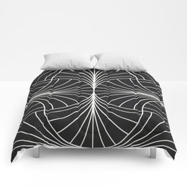 Diamond Series Inter Wave White on Charcoal Comforters
