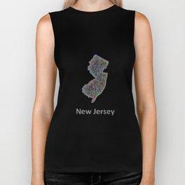 New Jersey map Biker Tank