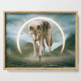 aegis   wolf Serving Tray