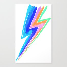 Power pastel / neon rainbow flash - Hit by stardust lightning Canvas Print