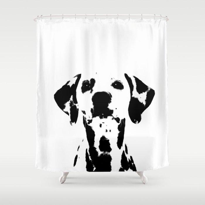 Dalmatian Dog Watercolour Shower Curtain