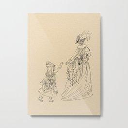 PokéCouture Series: Vulpix and Ninetales Metal Print