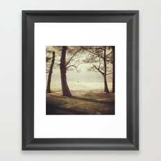 Lonely Beach Framed Art Print