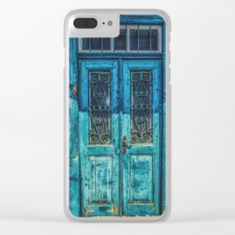 Vintage Greece Clear iPhone Case