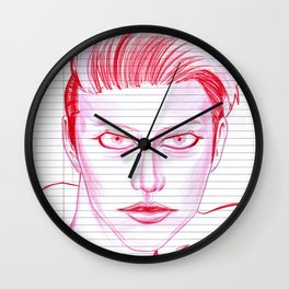 Fashion Hair with Loose Leaf Flair Wall Clock