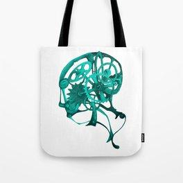 Gear Head Blue Tote Bag