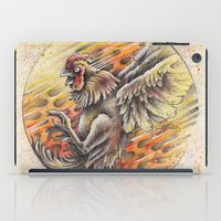 cock iPad Cases featuring Fighting Cock by Brady Scott