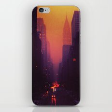 42nd Street, NYC - The Chrysler Building at Sunset iPhone & iPod Skin