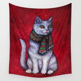 Holiday Yule Cat Jólakötturinn Wall Tapestry