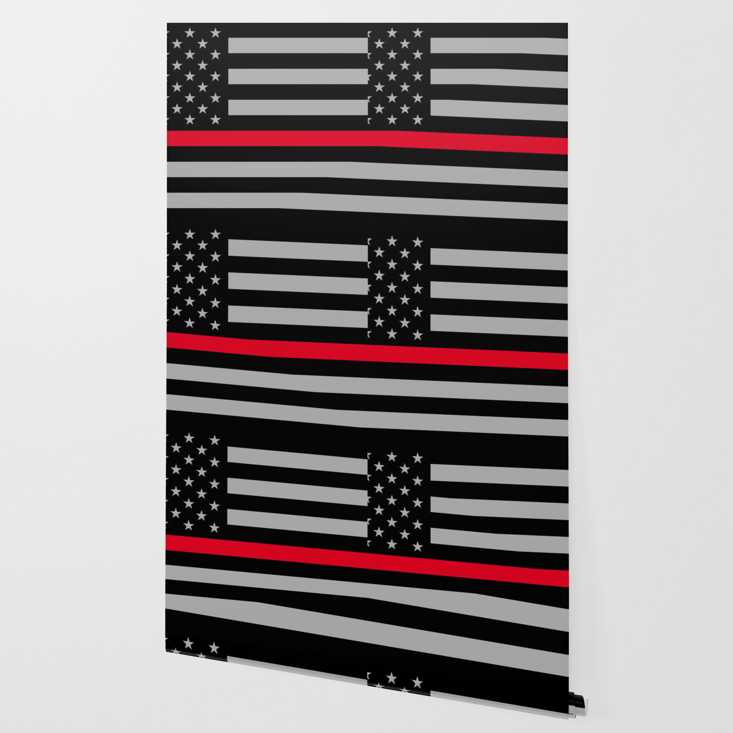Red Lives Matter Thin Red Line Wallpaper By Logicaltoad Society6