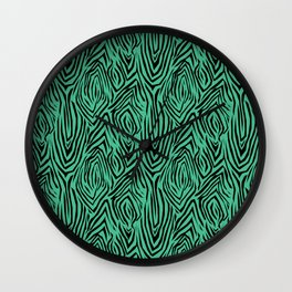 Black and green abstract pattern. Zebra . Wall Clock