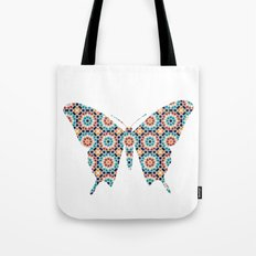 BUTTERFLY SILHOUETTE WITH PATTERN Tote Bag