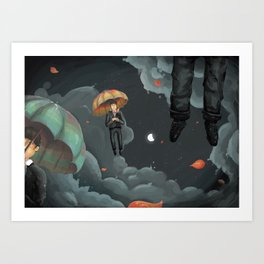 Eligible Bachelors Falling from the Sky Art Print