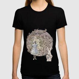 Alice,White Rabbit  and a Wonderland T-shirt
