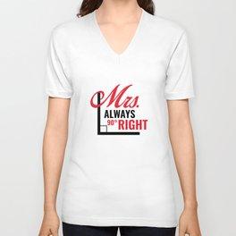 Mrs. Always Right Unisex V-Neck