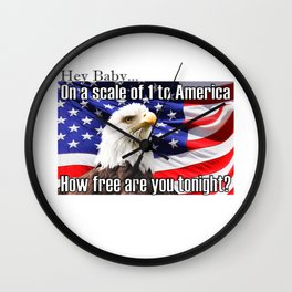 On a Scale of 1 to America Wall Clock