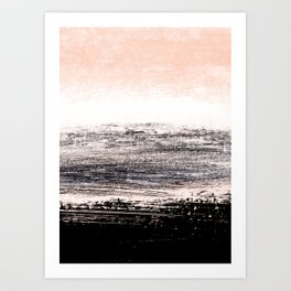 abstract minimalist landscape 8 Art Print