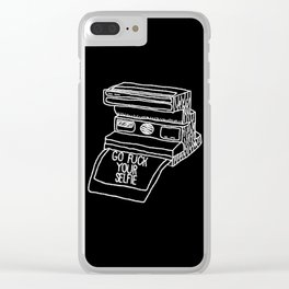 Go Fuck Your Selife Clear iPhone Case