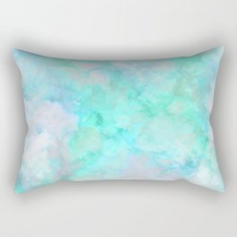 Irridescent Aqua Marble Rectangular Pillow