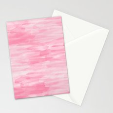 Chic Pink Watercolor Abstract Stationery Cards