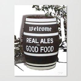 Real Ale Beer Barrel Canvas Print