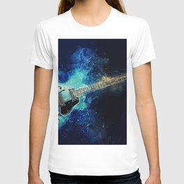 Electric Blue Guitar T-shirt